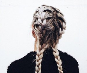 black and white, braids, and tumblr image