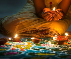 diwali, festival, and diya image