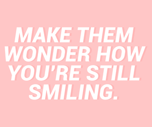 quote, pink, and smile image