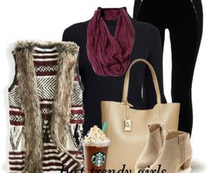 ankle boots, outfit, and bag image