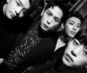bap, zelo, and black and white image