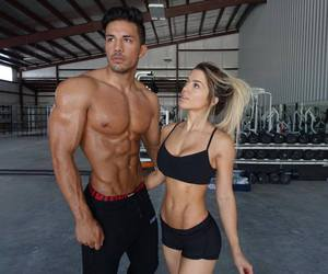 beautiful, couple, and fitness image
