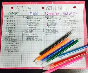 school, schedule, and study image
