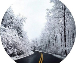 background, road, and snow image