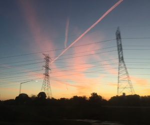 driving, sunset, and grunge image