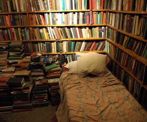 book, room, and library image