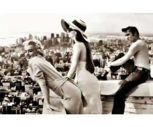 50s, Elvis Presley, and Marilyn Monroe image