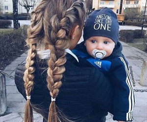 baby, girl, and hair image