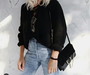 blond, clothes, and purse image