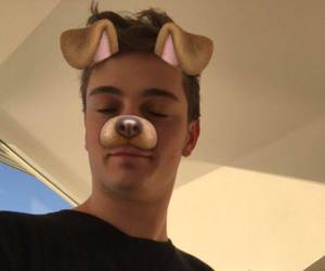 boy, martingarrix, and dogfilter image