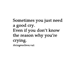 cry, quote, and love image