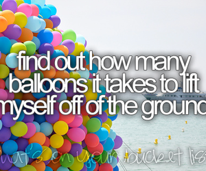 balloons and bucket list image