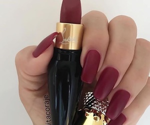 nails, lipstick, and red image