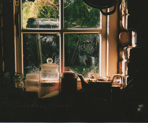 window, vintage, and kitchen image