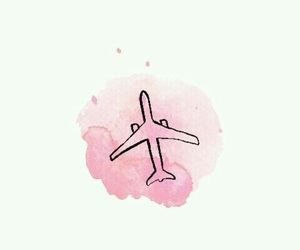 pink, travel, and wallpaper image