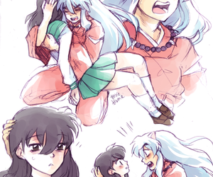 anime, inuyasha, and anime couples image