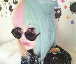 hair, kawaii, and pastel goth image