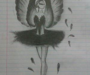 black swan and drawing image