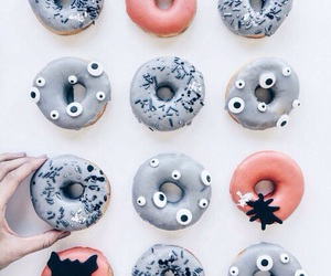 food, donuts, and Halloween image