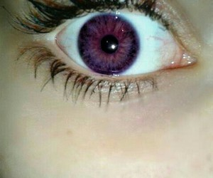 purple and purple eyes image