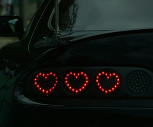 car, heart, and black image