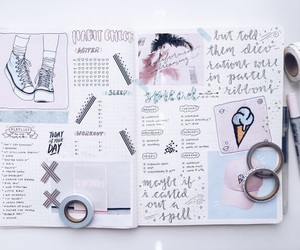 notes, pretty, and studying image
