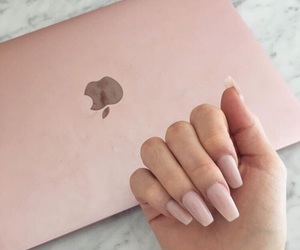 nails, apple, and pink image