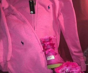 pink, Polo, and uggs image