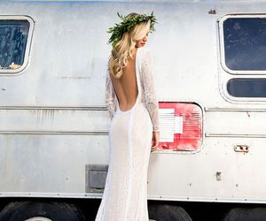 bohemian and wedding dress image