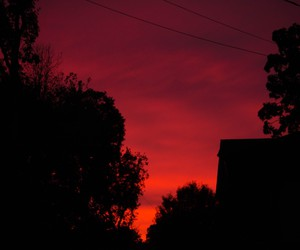 red and sky image