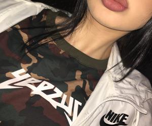 nike, girl, and lips image