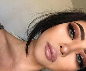 eyebrows, fashion, and eyelashes image