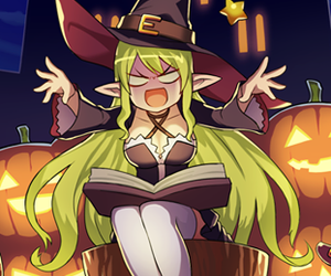 Halloween, witch, and rena image