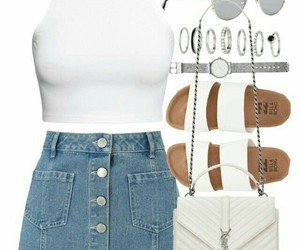 fashion, outfits, and sandals image