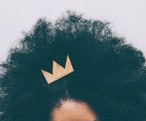 black woman, crown, and model image