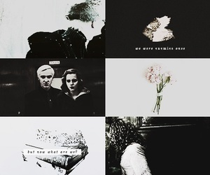 dramione, draco malfoy, and hermione granger image