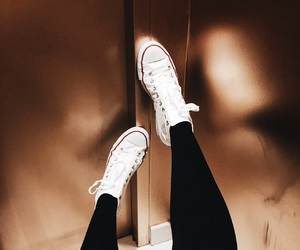 converse, gold, and high top image