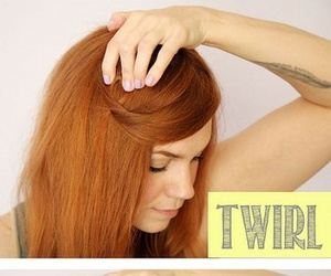 girl, hair, and tutorial image