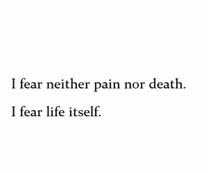 Dream, fear, and life image