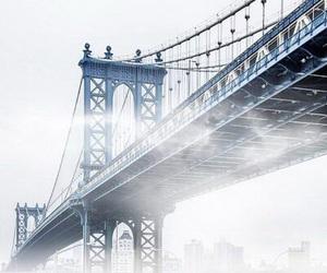 blue, bridge, and theme image