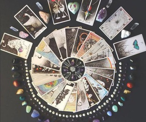 crystals, tarot, and witchcraft image