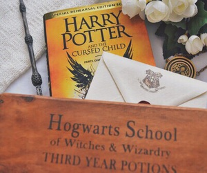 harry potter, cursed child, and book image
