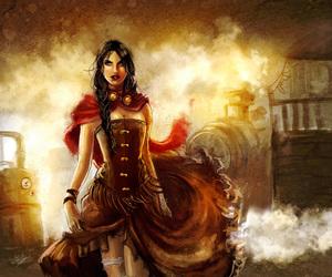 dark, steampunk, and victorian image