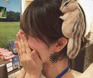 adorable, chipmunk, and girl image
