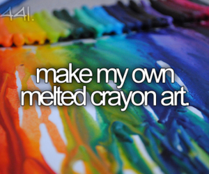 crayon, bucket list, and before i die image