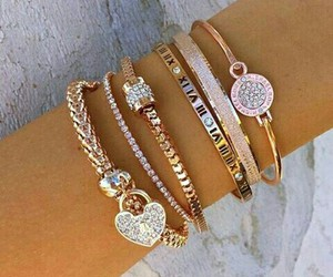 arm candy, style, and bracelets image