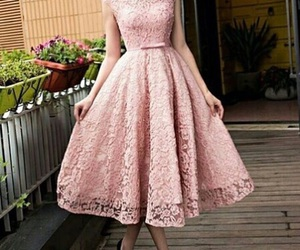dress, lace, and pink image
