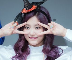 purple hair, tzuyu, and 쯔위 image