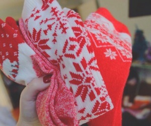christmas, winter, and patterns image