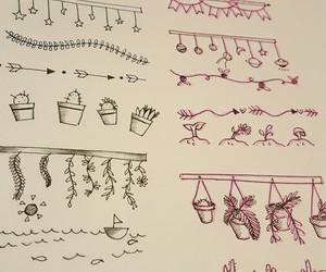 art, banners, and dibujo image